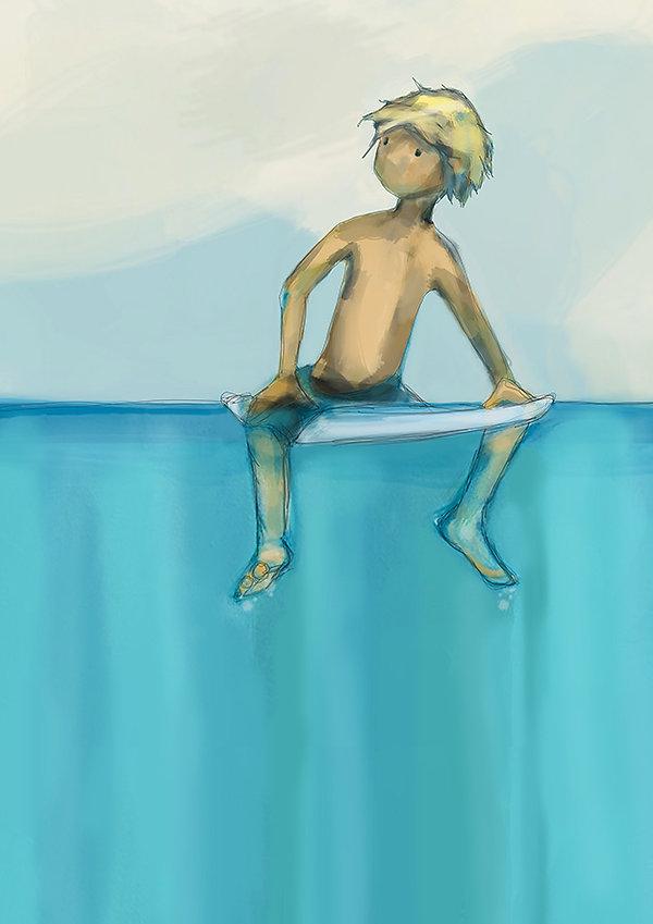 surfer, jane stadermann, cool illustrations, gromit