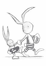 nursery art, online art for babies, prints for babies, online prints, the illusration shop, tis, beach bunnies