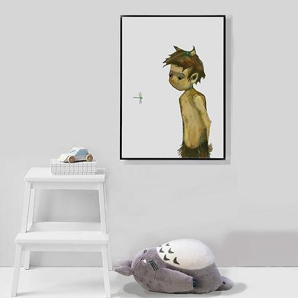 online art australia, TIS, the illustrationshop, Jane Stadermann, art for chilren, decorating nursery, nursery wallart, fawn, dragonfly, sweet art, Sydney illustration
