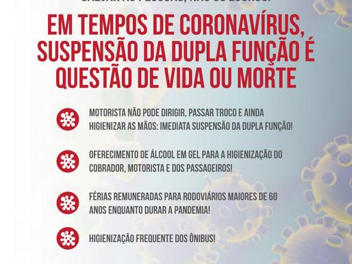 Coronavírus: Sindicato dos Rodoviários do Recife cobra providências do governo e empresas