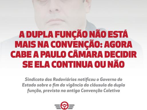 A dupla função não está mais na convenção: agora cabe a Paulo Câmara decidir se ela continua ou não
