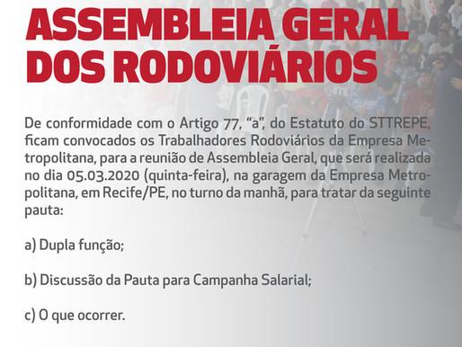 Edital Assembleia Geral: Metropolitana