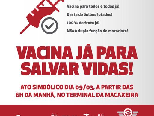 Ato simbólico: VACINA JÁ PARA SALVAR VIDAS!