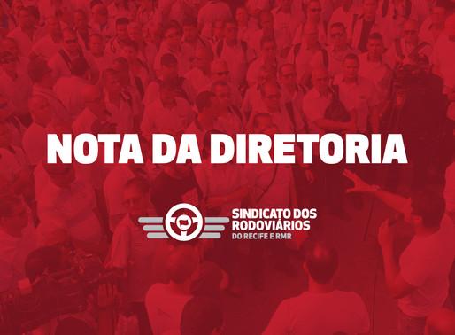 Nota do Sindicato dos Rodoviários em resposta ao Grande Recife