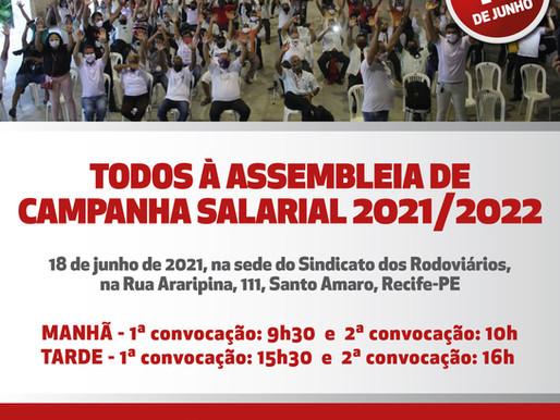 Edital assembleia campanha salarial 2021-2022