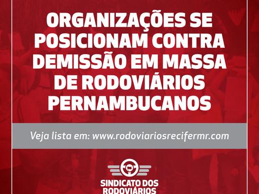 Organizações se posicionam contra demissão em massa de rodoviários pernambucanos - veja lista