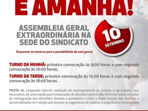 TODOS À ASSEMBLEIA DIA 10 DE SETEMBRO!