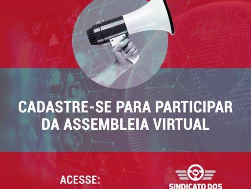 Cadastre-se para participar da assembleia virtual