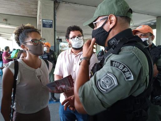 RODOVIÁRIOS EXIGEM VACINA E 100% DA FROTA EM ATO NO TERMINAL DA MACAXEIRA