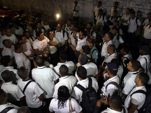 Rodoviários realizam protesto na Vera Cruz