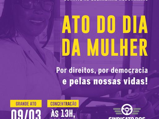 Convite: ato unificado do Dia da Mulher