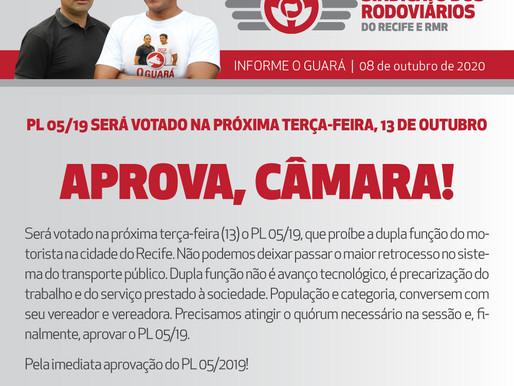 PL 05/19 será votado na próxima terça-feira, 13 de outubro