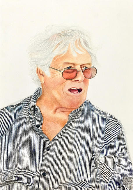 Grandfather memorial portrait