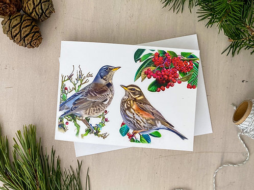 Winter Friends Greetings Card