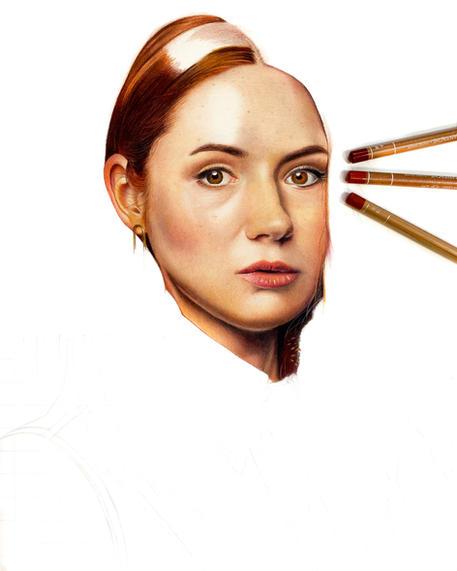 Karen Gillan portrait work in progress.JPG