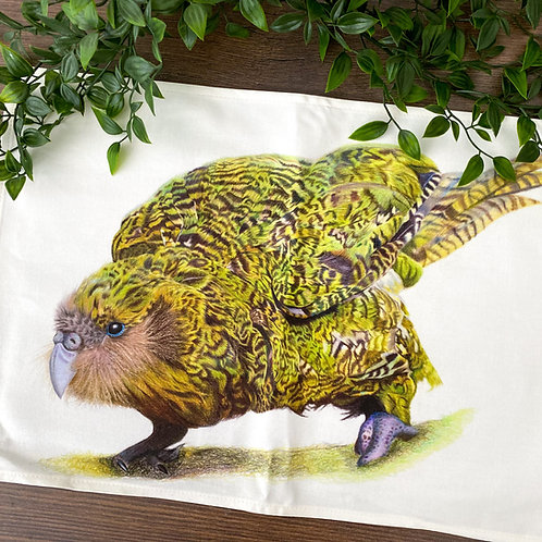 Tea Towel Kenneth the Kakapo
