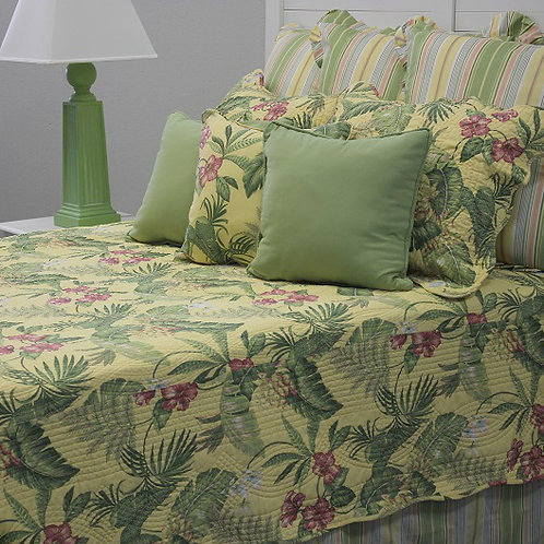 Yellow Tropical Quilt Set