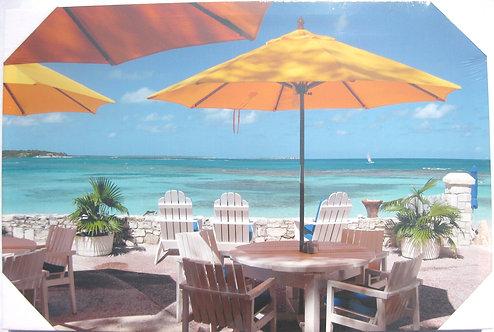 """Dinning on the Beach 16""""x24"""""""