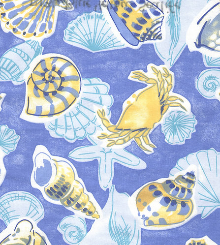 Blue/Yellow Sealife Fabric