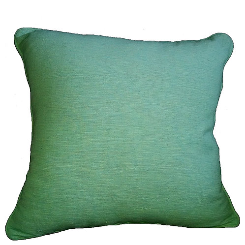 Turquoise Check Weave Throw Pillow