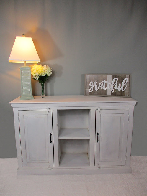 Pure White Reclaimed Wood Sideboard