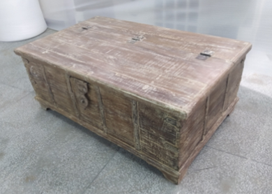 Old Wood Trunk Box