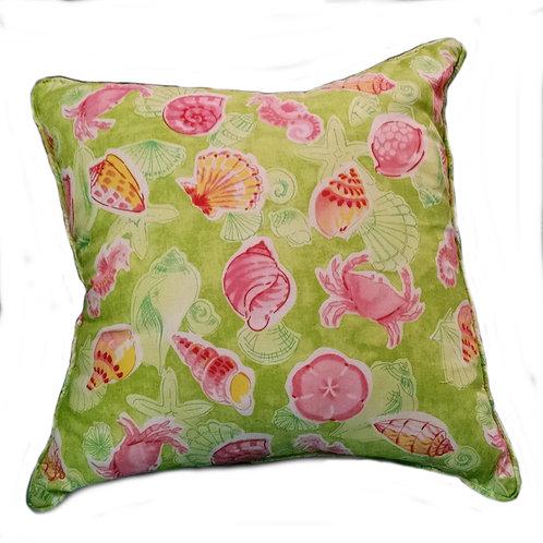 Pink/Green Sealife Pillow