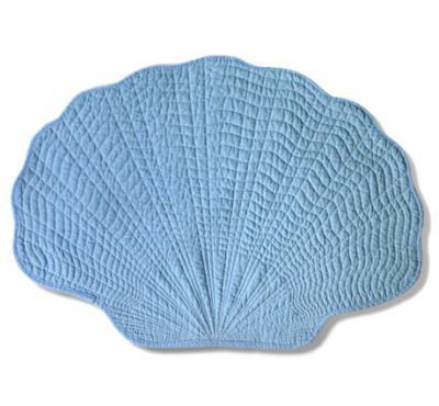 Fan Shell Placemat in Blue