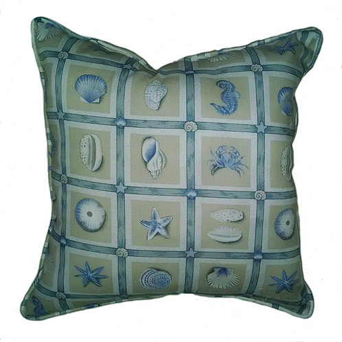 Natures Navy Throw Pillow