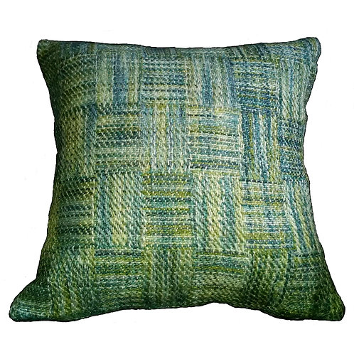 Lime Lurex Blend Throw Pillow
