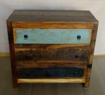 Indian Reclaimed Wood Tall Dresser