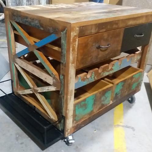 Kitchen Shelf Trolley on Wheels (MDA-127)