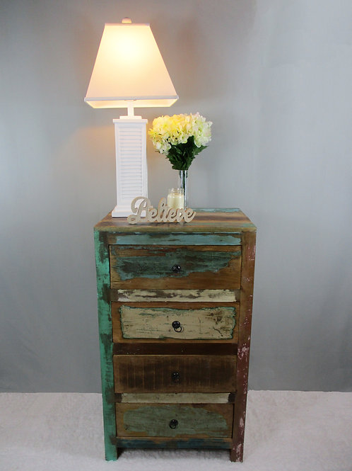 Indian Reclaimed Wood Four Drawer Chest (MDA-26)