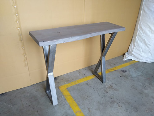 Acacia Wood Grey Stain Console Table