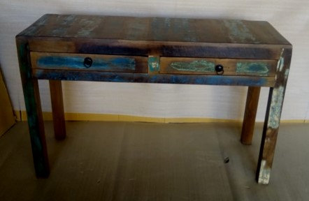 Indian Reclaimed Wood Large Sofa Table