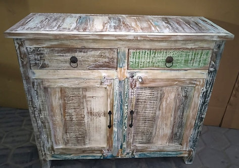 Indian Reclaimed Whitewash Wood Medium Dresser