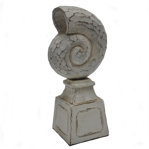Wood Nautilus Shell on Stand