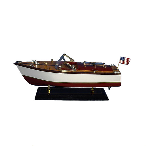 Medium White Side Speed Boat