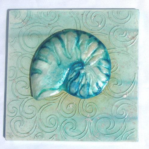 Nautilus Shell Tin Wall Decor