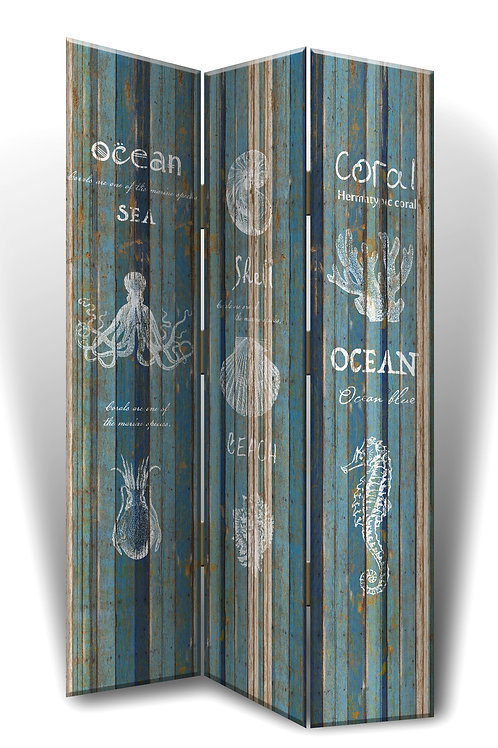 Rustic Sealife Room Divider
