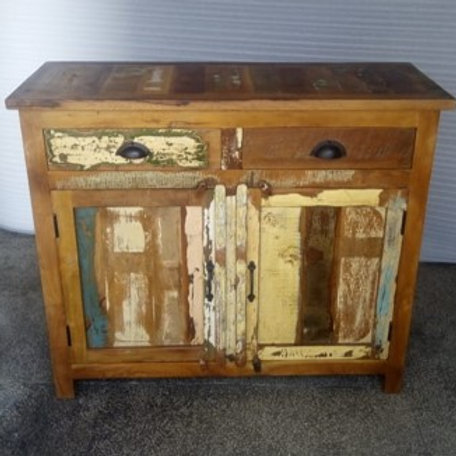 Indian Reclaimed Wood Two Door, Two Drawer Sideboard