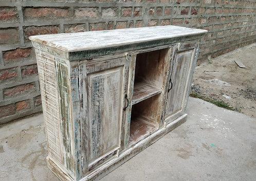 Indian Reclaimed Whitewash Wood Sideboard