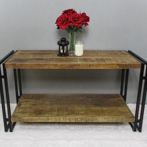 Indian Reclaimed Wood & Iron Frame Coffee Table (MDA-117)