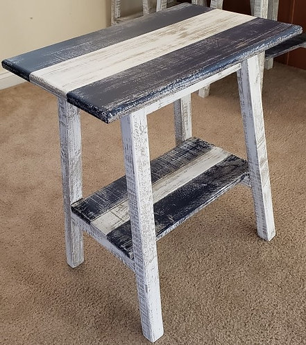 Distressed Wood Rectangle End Tables