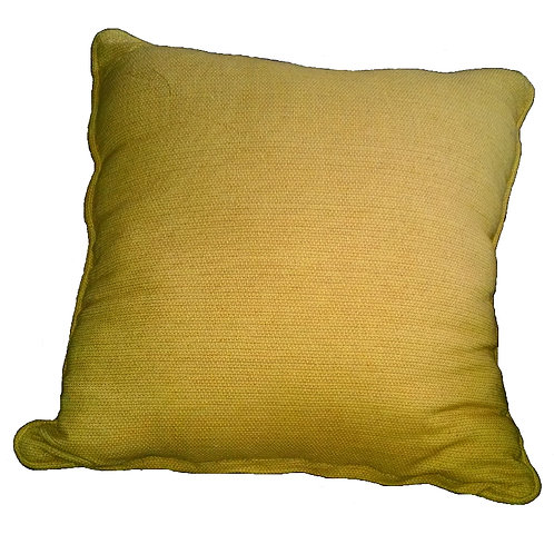 Yellow Check Weave Throw Pillow