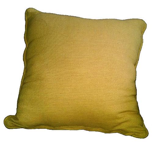 Yellow Check Weave Throw Pilow