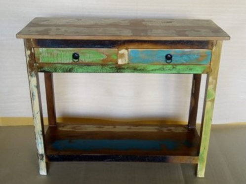 Indian Reclaimed Wood Two Door Console Table
