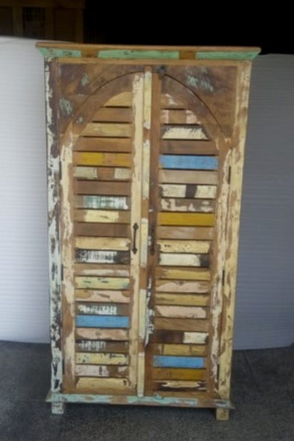 Indian Reclaimed Wood Tall Almirah Chest