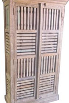 Patterned Wood Armoire (MDA-20-143)