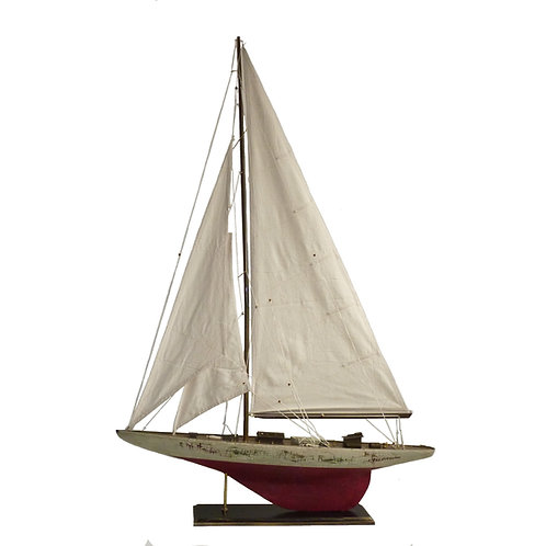 Antiqued 3 Sail Ship